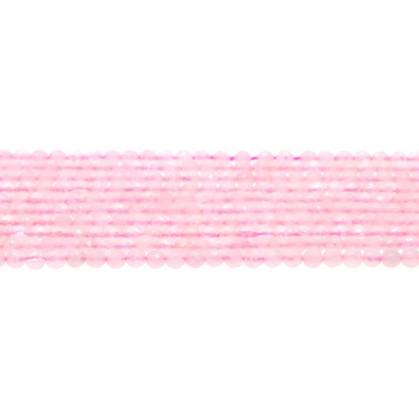 Rose Quartz Round Faceted 4mm - Loose Beads