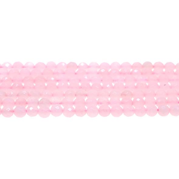 Rose Quartz Round Faceted 6mm - Loose Beads