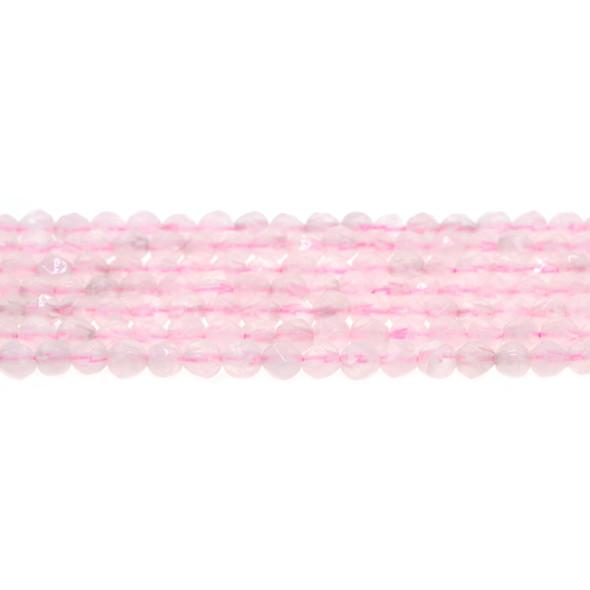 Rose Quartz Round Large Cut 6mm - Loose Beads