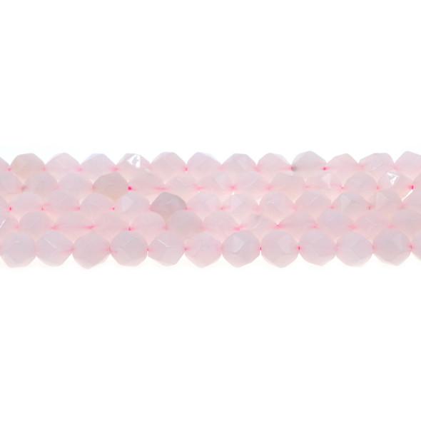 Rose Quartz Round Large Cut 8mm - Loose Beads