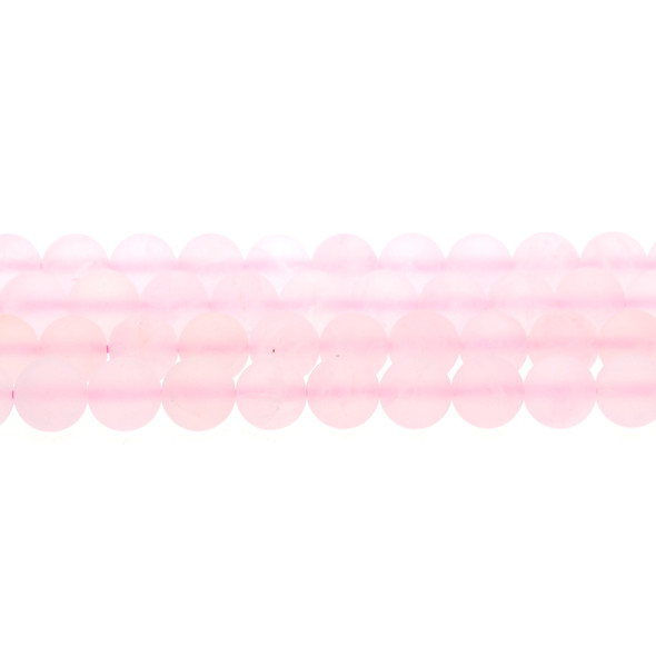 Rose Quartz Round Frosted 10mm - Loose Beads