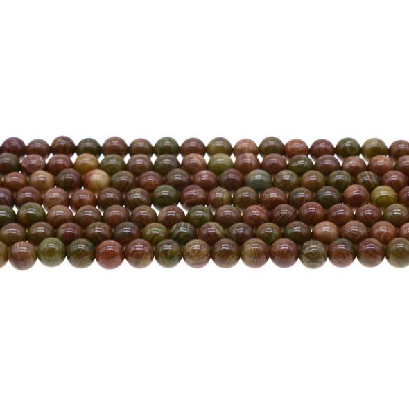 Rainbow Saturn Jasper Round 6mm - Loose Beads