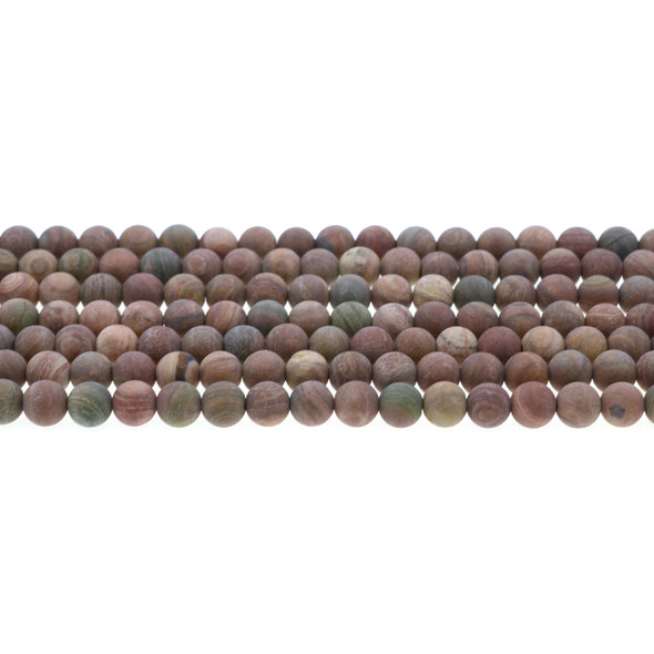 Rainbow Saturn Jasper Round Frosted 6mm - Loose Beads