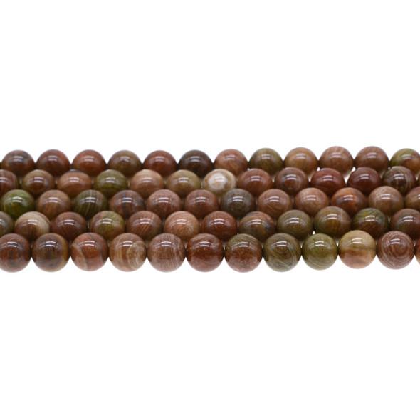 Rainbow Saturn Jasper Round 8mm - Loose Beads