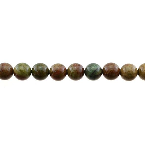Rainbow Saturn Jasper Round 10mm - Loose Beads