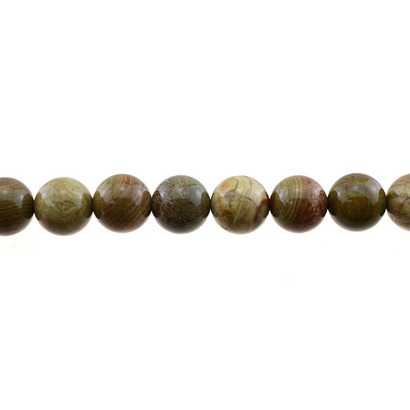 Rainbow Saturn Jasper Round 12mm - Loose Beads