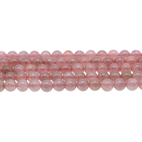 Natural Strawberry Quartz AA 8mm - Loose Beads