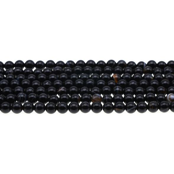Black Sardonyx Round 6mm - Loose Beads