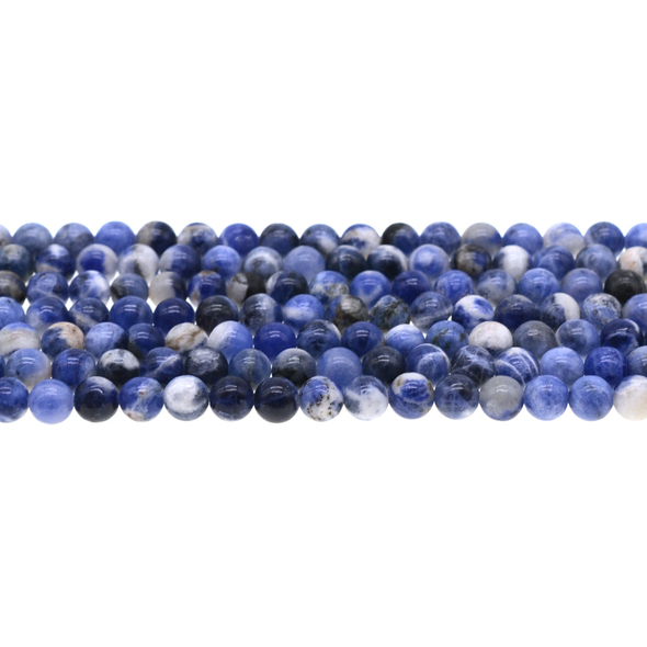 Sodalite Dual Tone Round 6mm - Loose Beads