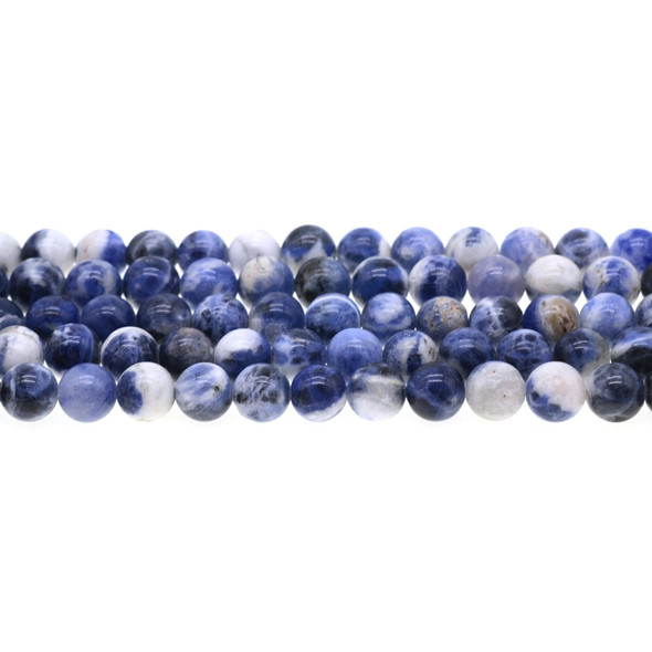 Sodalite Dual Tone Round 8mm - Loose Beads