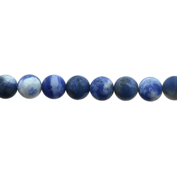 Sodalite Dual Tone Round Frosted 10mm - Loose Beads