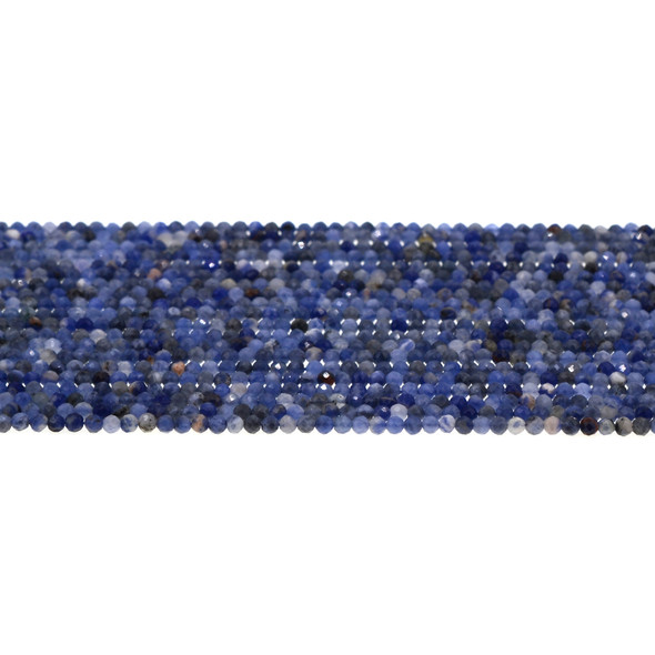 Sodalite Round Faceted Diamond Cut 2mm - Loose Beads