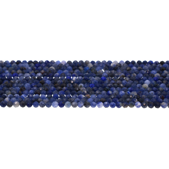 Sodalite Round Faceted Diamond Cut 3mm - Loose Beads
