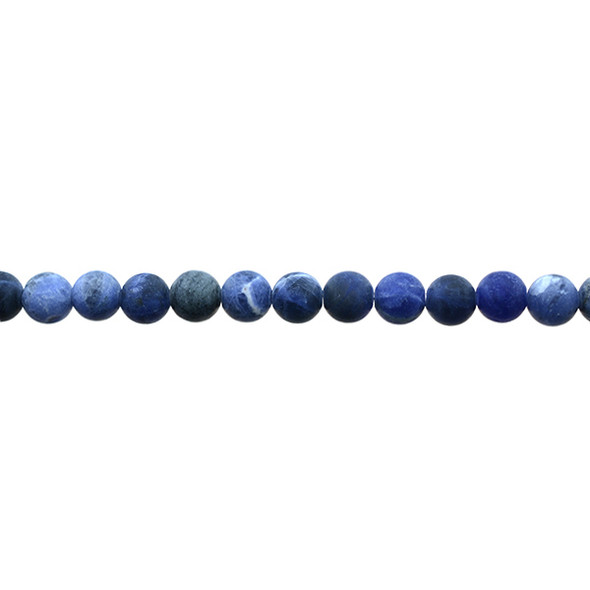 Sodalite Round Frosted 6mm - Loose Beads