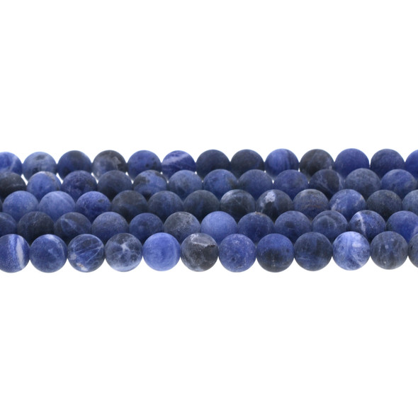 Sodalite Round Frosted 8mm - Loose Beads