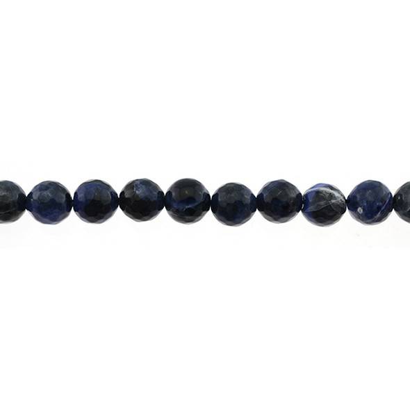 Sodalite Round Faceted 10mm - Loose Beads