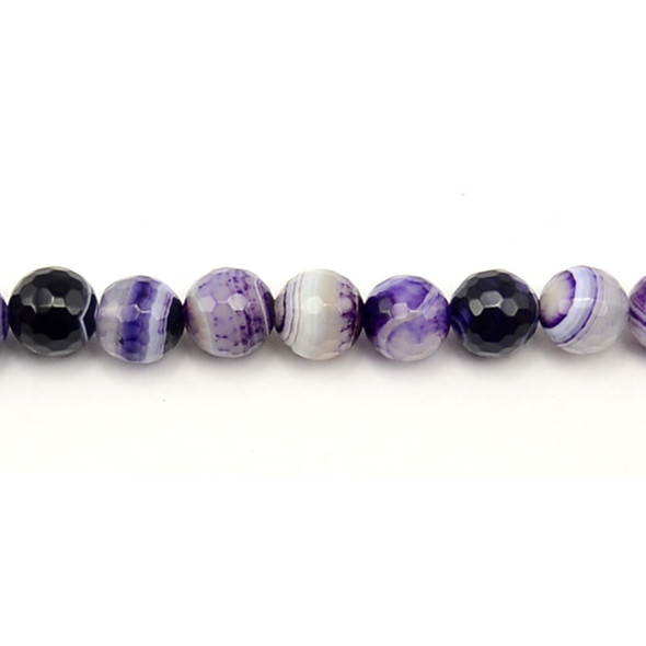 Purple Sardonyx Round Faceted 10mm - Loose Beads