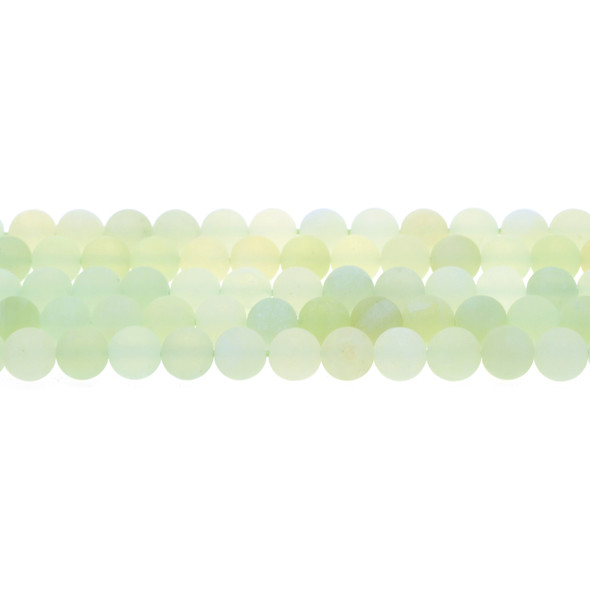 Serpentine New Jade Round Frosted 8mm - Loose Beads