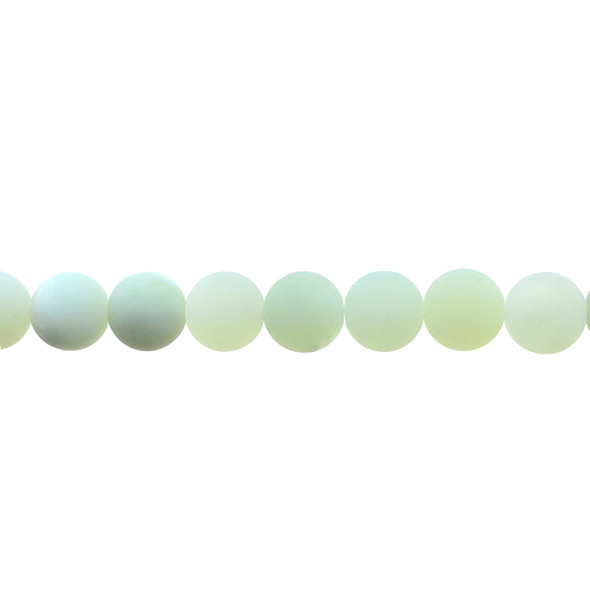 Serpentine New Jade Round Frosted 10mm - Loose Beads
