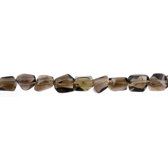 Smokey Quartz Nugget Faceted Irregular 8mm x 8mm x 11mm - Loose Beads