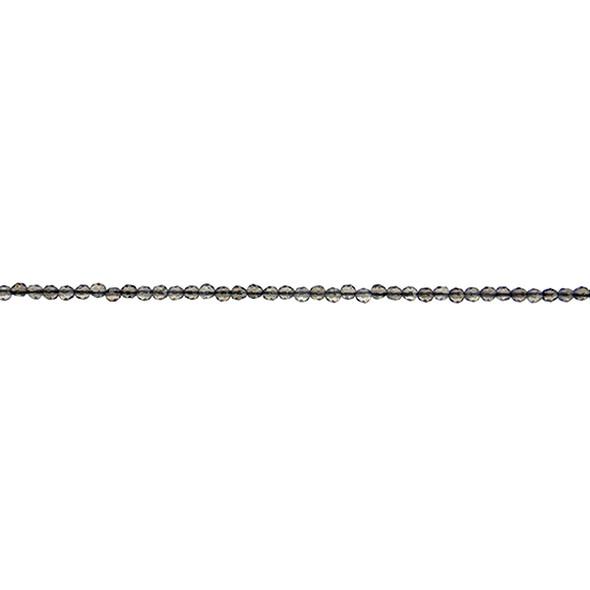 Smokey Quartz Round Faceted 2mm - Loose Beads