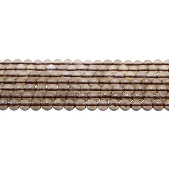 Smokey Quartz Round 6mm - Loose Beads