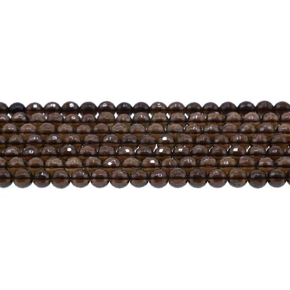 Smokey Quartz Round Faceted 6mm - Loose Beads