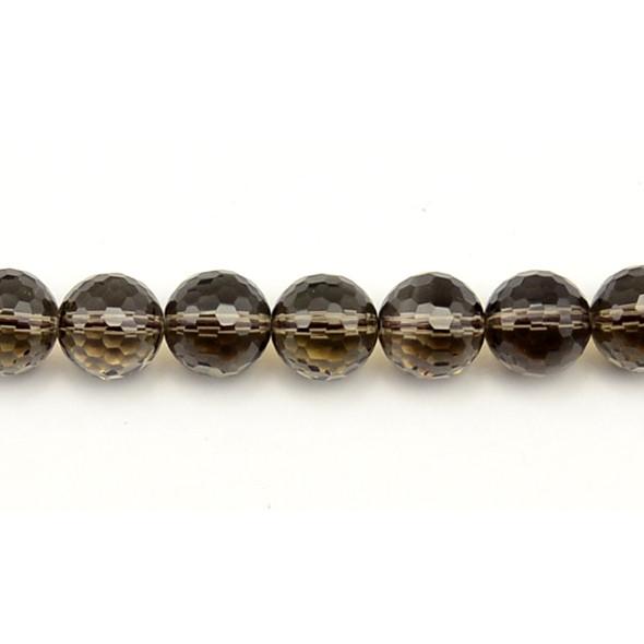 Smokey Quartz Round Faceted 12mm - Loose Beads