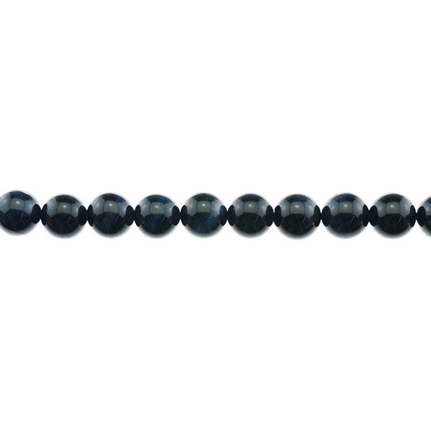 Blue Tiger Eye A Round 10mm - Loose Beads