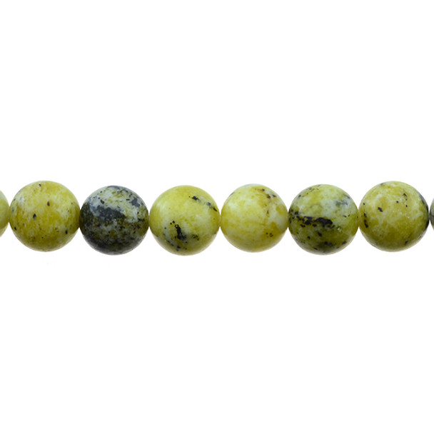 Yellow Turquoise (Serpentine Quartz) Round 12mm - Loose Beads