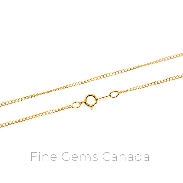 """14K Gold Filled - Curb Chain 16"""" (1.5mm) - 1/Pack"""
