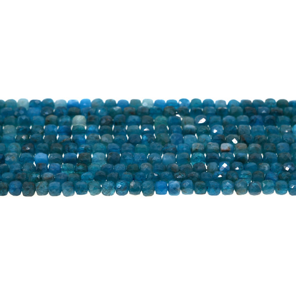 Apatite Cube Faceted Diamond Cut 4mm - Loose Beads