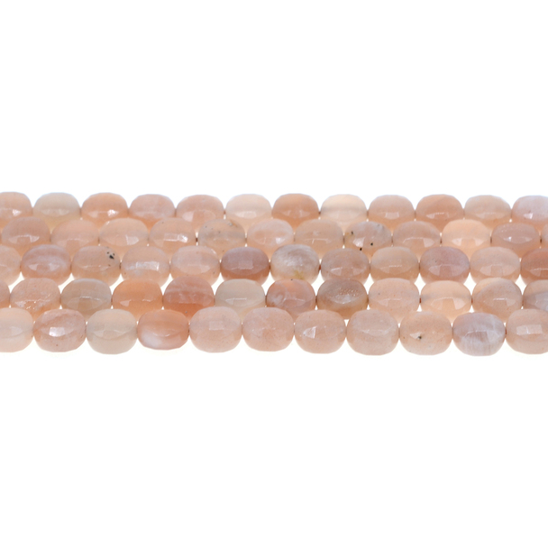 Multi-Color Moonstone AA Coin Puff Faceted Diamond Cut 8mm x 8mm x 5mm - Loose Beads