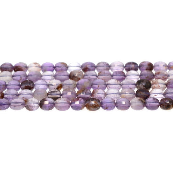 Auralite Coin Puff Faceted Diamond Cut 8mm x 8mm x 5mm - Loose Beads