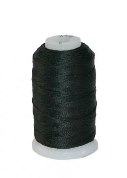 100% Spooled Silk 0.5OZ - Black- D