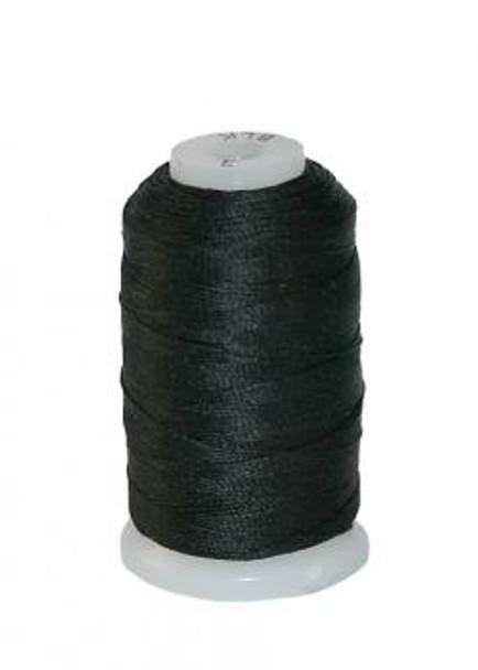 100% Spooled Silk 0.5OZ - Black- F