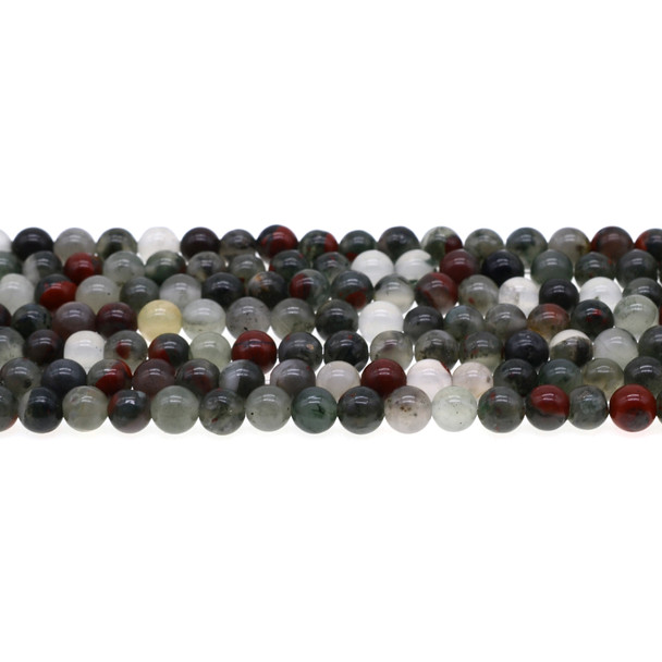 African Bloodstone Round 6mm - Loose Beads