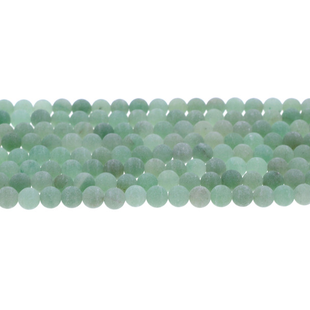 Aventurine Round Frosted 6mm - Loose Beads