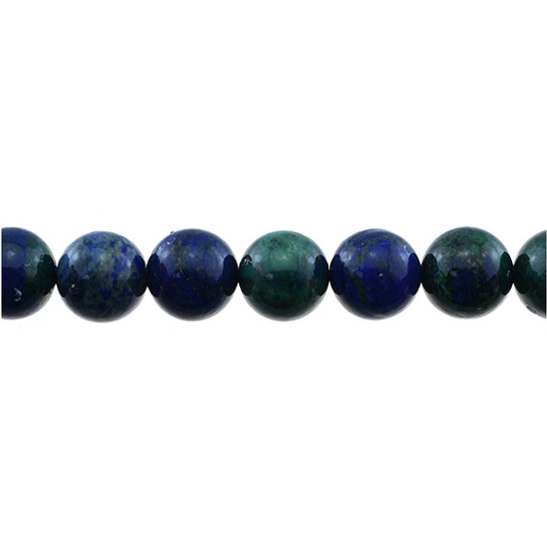 Azurite Colored Enhanced Round 12mm - Loose Beads