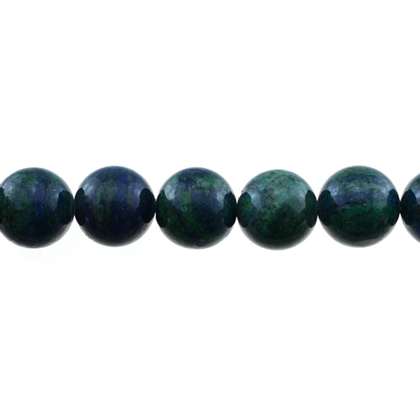 Azurite Colored Enhanced Round 14mm - Loose Beads