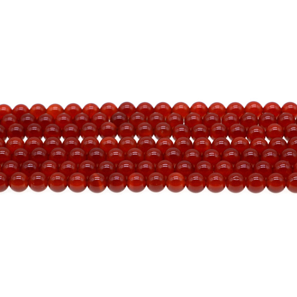 Carnelian - Red Round 6mm - Loose Beads