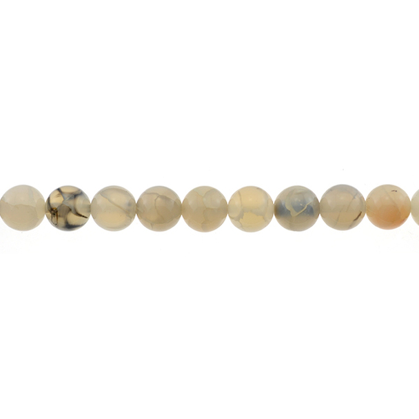Dragon Vein Agate Round 10mm - Loose Beads