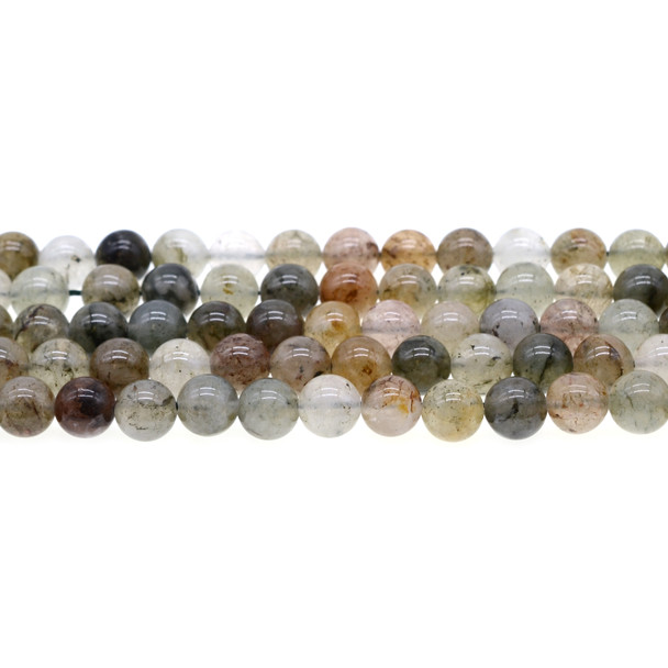 Green Phantom Quartz Round 8mm - Loose Beads