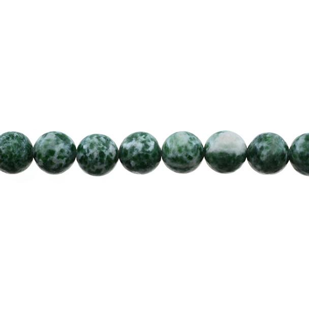 Green Spot Jasper Round 10mm - Loose Beads