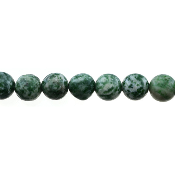 Green Spot Jasper Round 12mm - Loose Beads