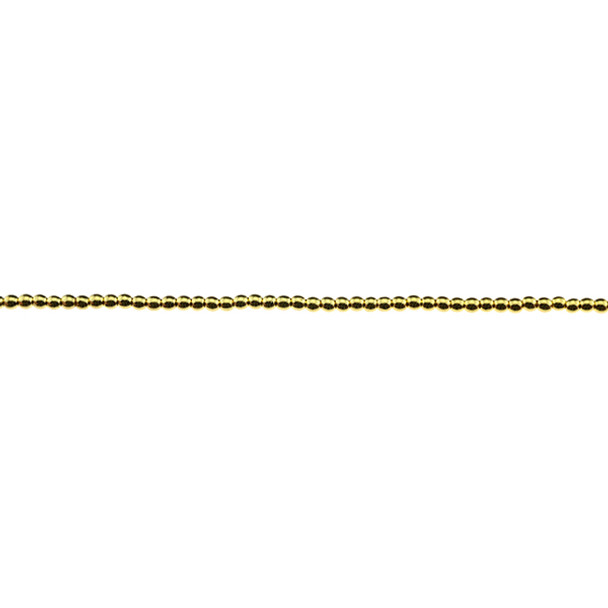 Gold Plated Hematite Round 2mm - Loose Beads
