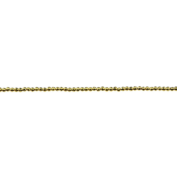 Gold Plated Hematite Round Faceted 2mm - Loose Beads