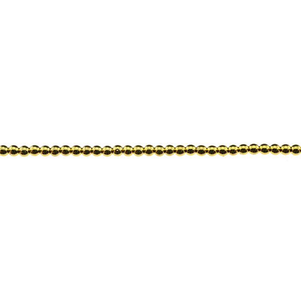 Gold Plated Hematite Round 3mm - Loose Beads