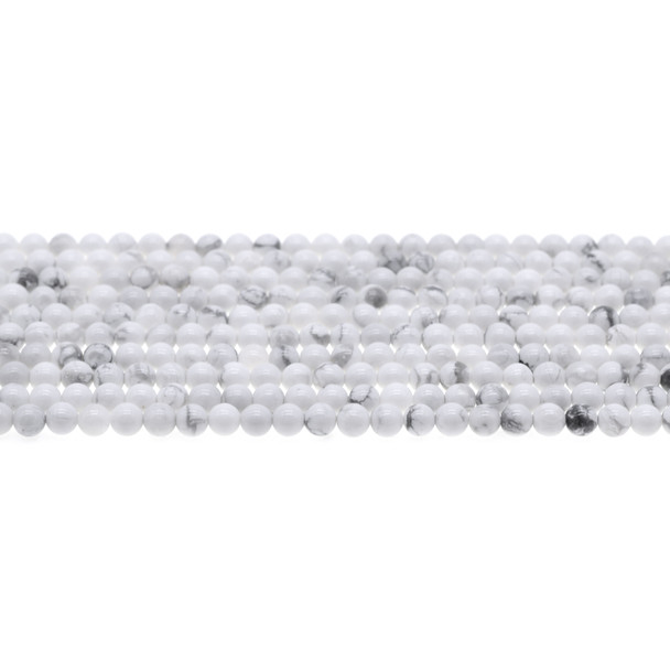 Howlite Round 4mm - Loose Beads