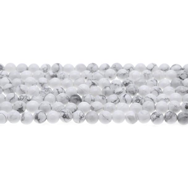 Howlite Round 6mm - Loose Beads